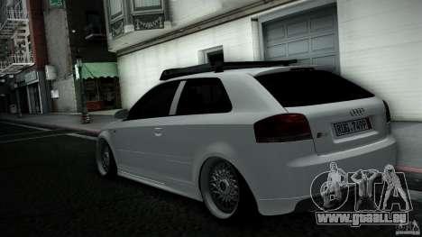 Audi S3 Euro pour GTA San Andreas sur la vue arrière gauche