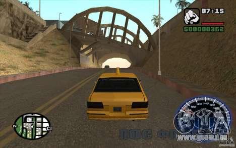 Compteur de vitesse pour GTA San Andreas deuxième écran
