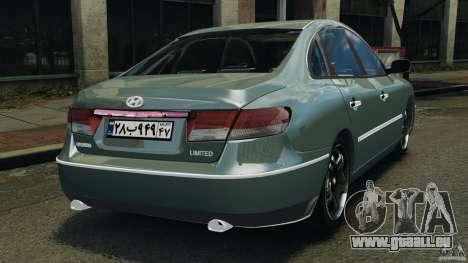 Hyundai Azera für GTA 4 hinten links Ansicht