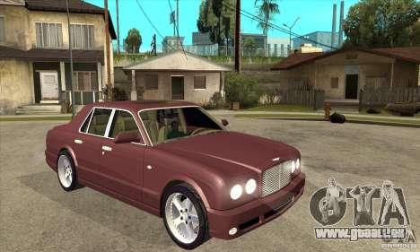 Bentley Arnage GT pour GTA San Andreas vue arrière