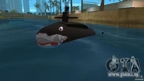 Vice City Submarine with face für GTA Vice City