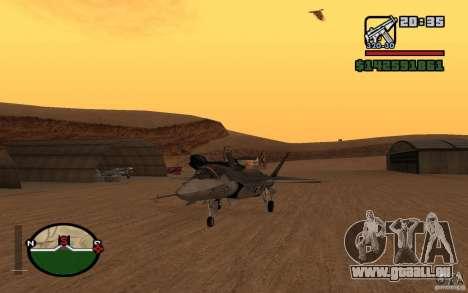 F-35 Eagle für GTA San Andreas zurück linke Ansicht