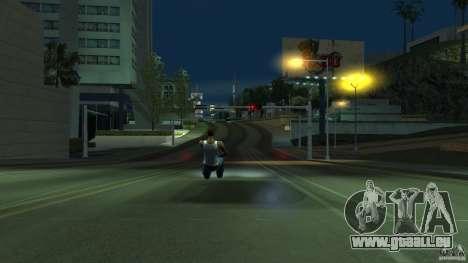 Invisible Blista Compact pour GTA San Andreas sur la vue arrière gauche