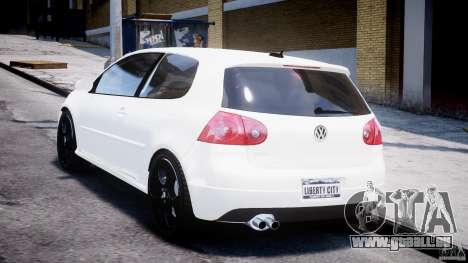 Volkswagen Golf 5 GTI pour GTA 4 Vue arrière de la gauche