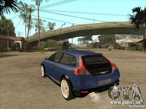 VOLVO C30 Sport 2009 pour GTA San Andreas sur la vue arrière gauche