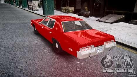 Dodge Monaco 1974 stok rims pour GTA 4 Vue arrière de la gauche