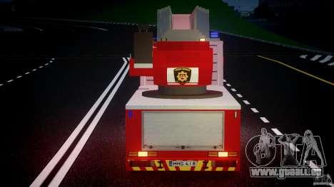 Scania R580 Fire ladder PK106 [ELS] für GTA 4 Unteransicht