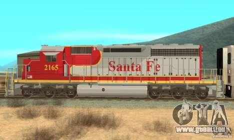 SD40 Santa Fe pour GTA San Andreas laissé vue