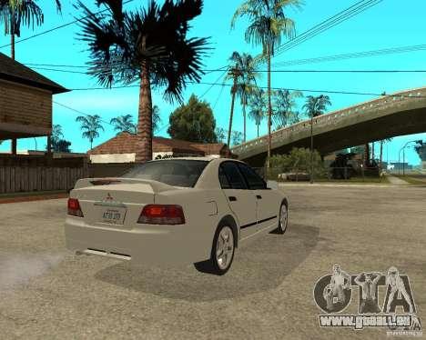 Mitsubishi Galant VR6 für GTA San Andreas zurück linke Ansicht