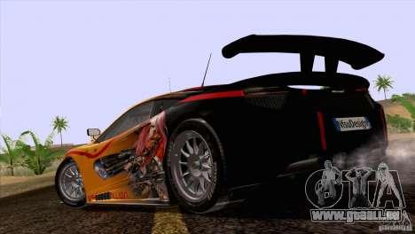 Malerei arbeitet McLaren MP4-12 C Speedhunters für GTA San Andreas Rückansicht