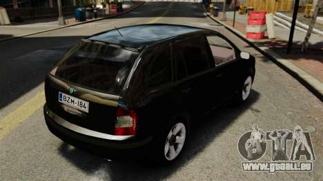 Skoda Fabia Combi Unmarked ELS für GTA 4 Rückansicht