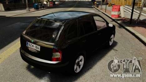Skoda Fabia Combi Unmarked ELS pour GTA 4 Vue arrière