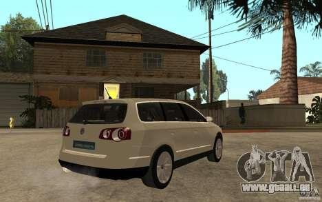 Volkswagen Passat Variant 2010 für GTA San Andreas rechten Ansicht