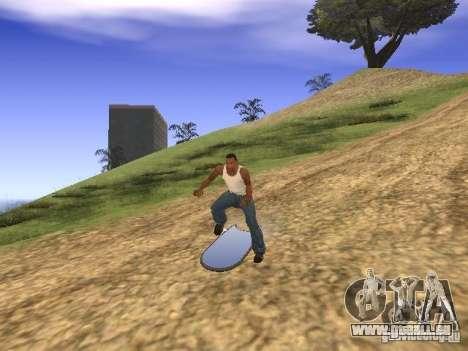 Aèrobord du film Retour vers le futur 2 pour GTA San Andreas vue de droite