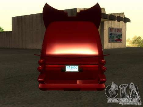 Toyota Hiace Vanning für GTA San Andreas rechten Ansicht