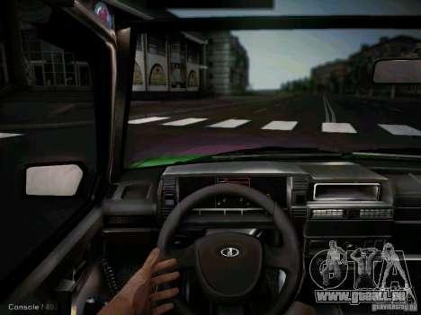VAZ 2109 kurz-Kryloe Taxi für GTA San Andreas Innenansicht