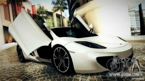 McLaren MP4-12C 2012 für GTA San Andreas Innenansicht