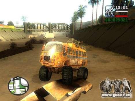 Bullet Storm Bus für GTA San Andreas zurück linke Ansicht