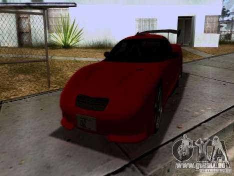 Chevrolet Corvette C5 pour GTA San Andreas salon