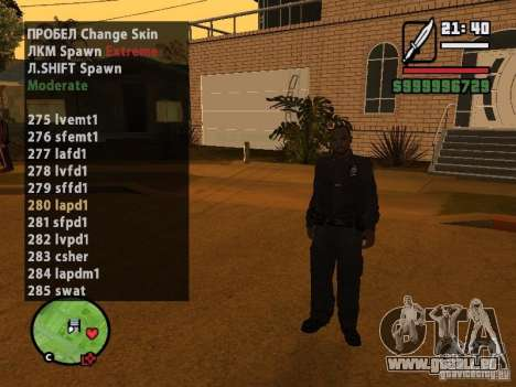 GTA IV peds to SA pack 100 peds pour GTA San Andreas troisième écran
