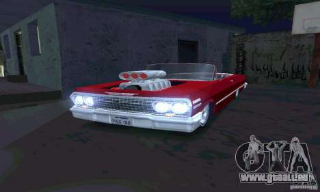 Chevrolet Impala 1963 Lowrider Charged pour GTA San Andreas