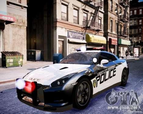 Nissan Spec GT-R Enforcer pour GTA 4 est une vue de l'intérieur