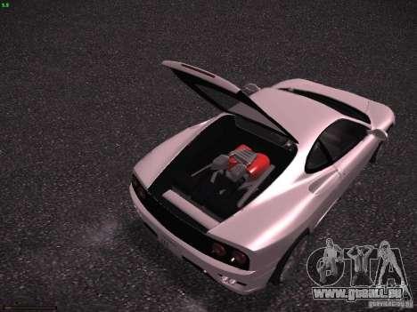 Ferrari 360 Modena für GTA San Andreas Unteransicht