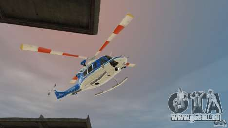Bell412/NYPD Air Sea Rescue Helicopter für GTA 4 linke Ansicht