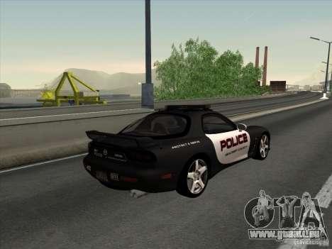 Mazda RX-7 FD3S Police pour GTA San Andreas laissé vue
