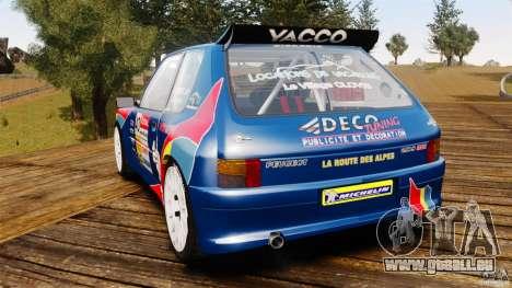 Peugeot 205 Maxi für GTA 4 hinten links Ansicht