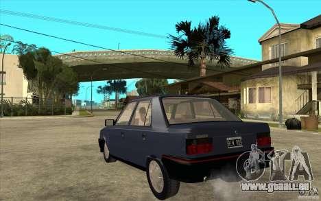 Renault 9 Mod 92 TXE pour GTA San Andreas sur la vue arrière gauche