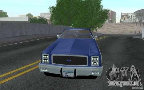 Chevrolet El Camino 1976 pour GTA San Andreas laissé vue