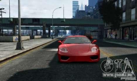Ferrari 360 modena für GTA 4 Rückansicht
