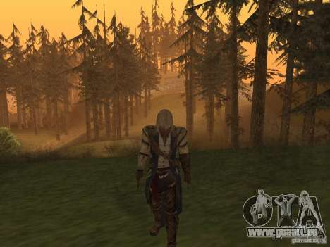 Connor From ACIII für GTA San Andreas zweiten Screenshot