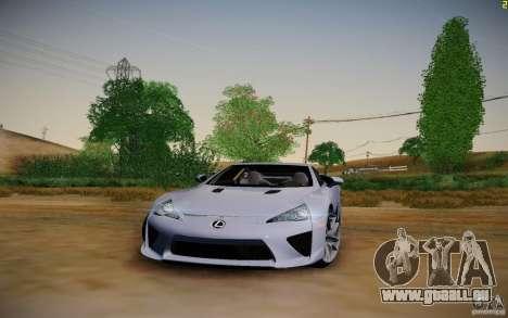 Lexus LFA für GTA San Andreas Rückansicht
