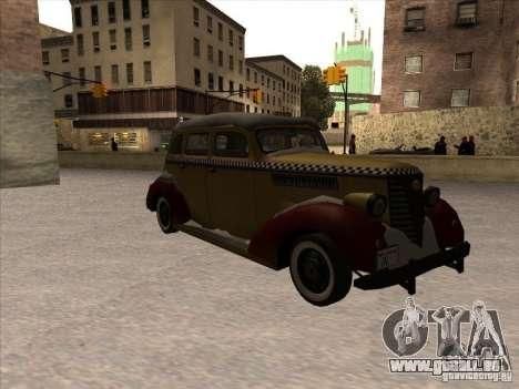 Shubert TAXI de MAFIA 2 pour GTA San Andreas laissé vue