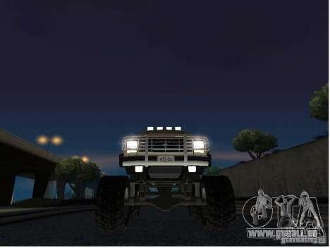 Ford Bronco IV Monster pour GTA San Andreas vue intérieure