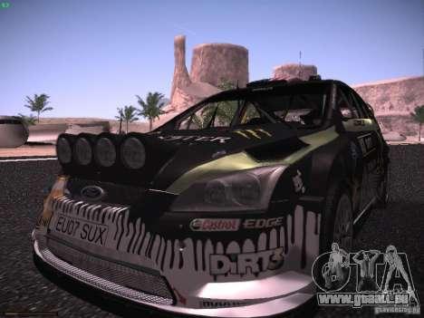 Ford Focus RS Monster Energy für GTA San Andreas Rückansicht