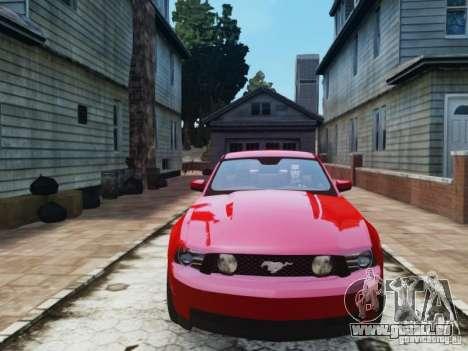 Ford Mustang GT 2011 pour GTA 4 Vue arrière