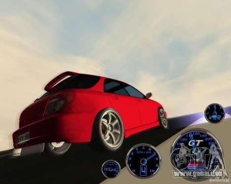 Subaru Impreza Universal für GTA San Andreas Rückansicht