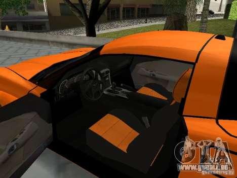 Chevrolet Corvette (C6) pour GTA San Andreas vue arrière