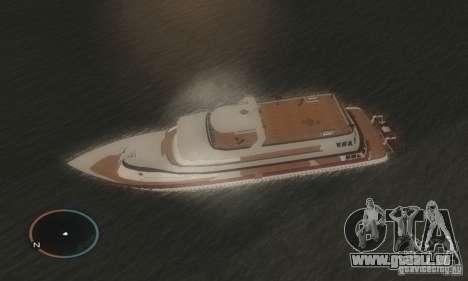 Korteza yacht de Vice City pour GTA San Andreas laissé vue