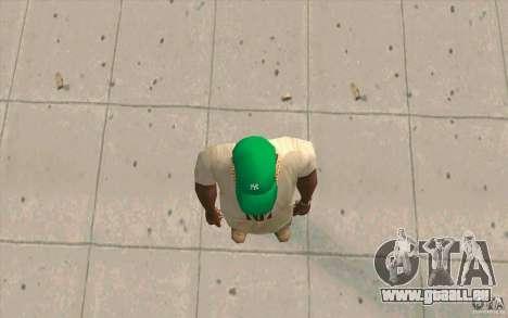 Newyorkyankiys Cap Grün für GTA San Andreas dritten Screenshot