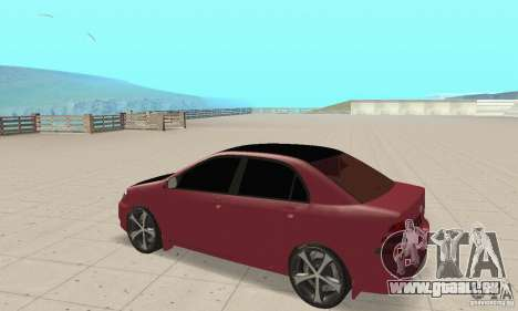 Toyota Corolla Tuning pour GTA San Andreas vue arrière