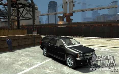 Chevrolet Suburban 2008 (beta) pour GTA 4 Vue arrière