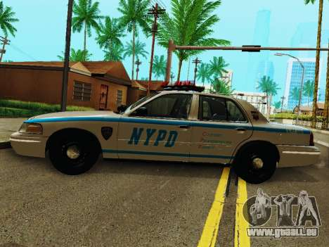 Ford Crown Victoria 2003 NYPD White für GTA San Andreas linke Ansicht