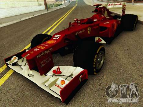 Ferrari F2012 für GTA San Andreas