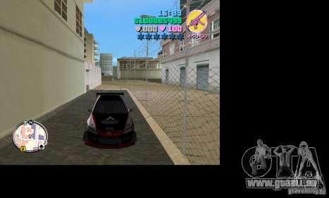 Mitsubishi Lancer Evo VIII für GTA Vice City zurück linke Ansicht
