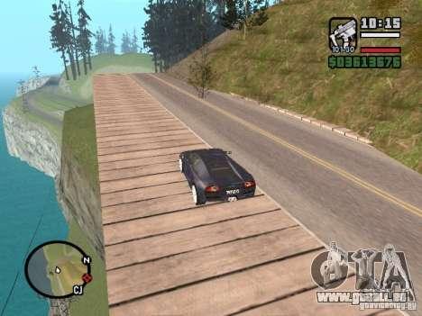 Voyage sur l'océan (version bêta) pour GTA San Andreas deuxième écran