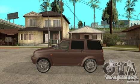 UAZ Patriot für GTA San Andreas zurück linke Ansicht